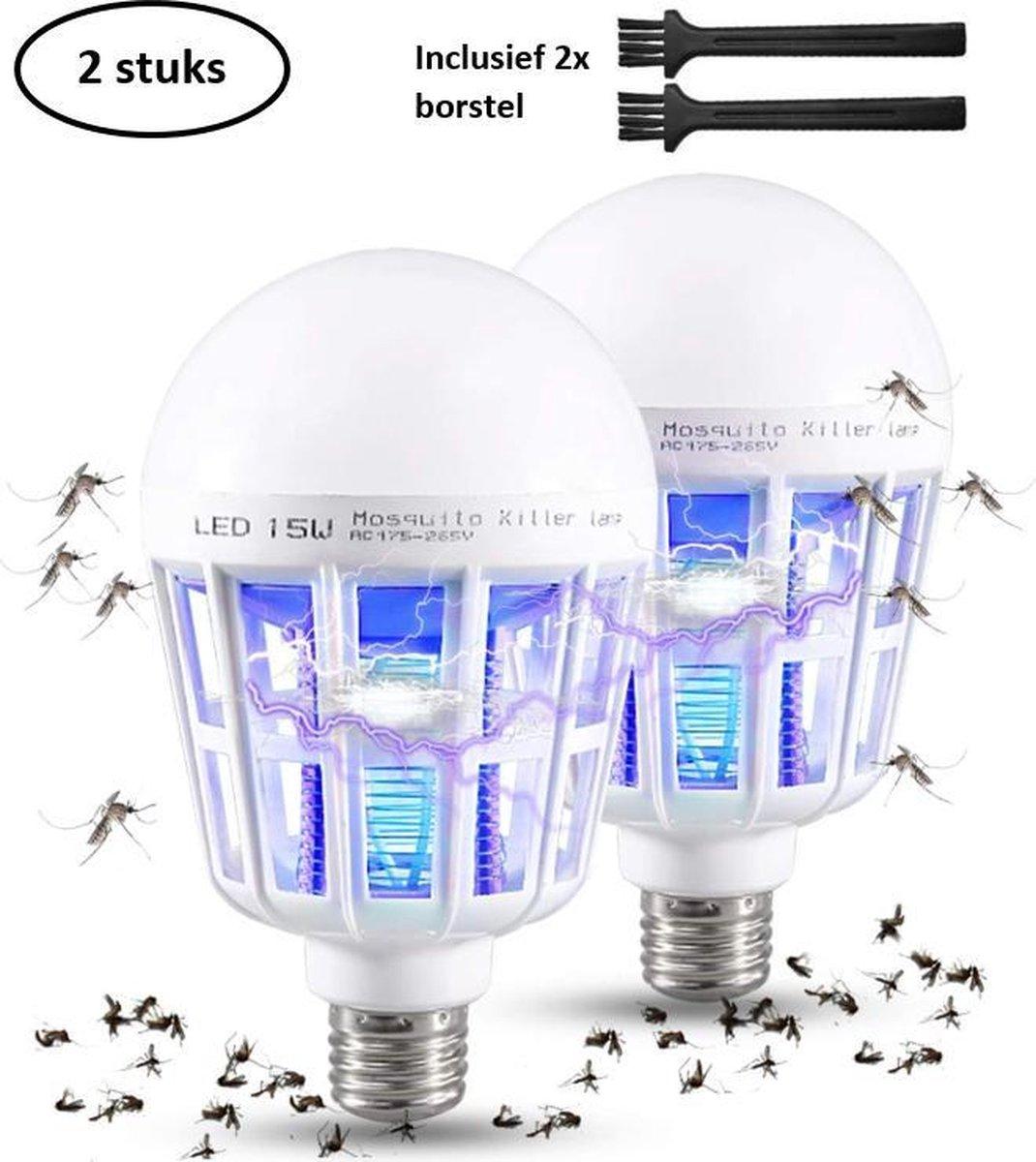 Luxergoods 3 in 1 Muggenvanger - Insectenlamp - mosquito killer - stil - Fitting - geen last van vli