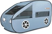 Deryan Luxe Pop up Auto Speeltent Ballenbak - Met 60 gekleurde ballen - Sky blue