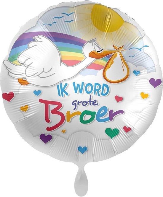 Everloon - Folieballon - Ik Word Grote Broer - 43cm - Voor geboorte