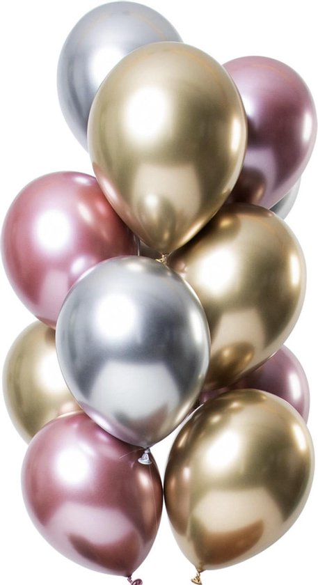 24 Ballonnen Chrome Feest Balonnen Party Feest Metallic - Versiering - Lets Decorate®