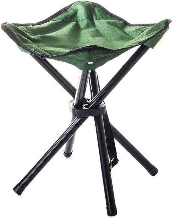 Toeristische vissersstoel - Krukje - Viskrukje -Opgevouwen / opvouwbaar- Camping - Vissen -Stoel - Groen- Camping stoel- Camping krukje-Vis Krukje- Visstoel