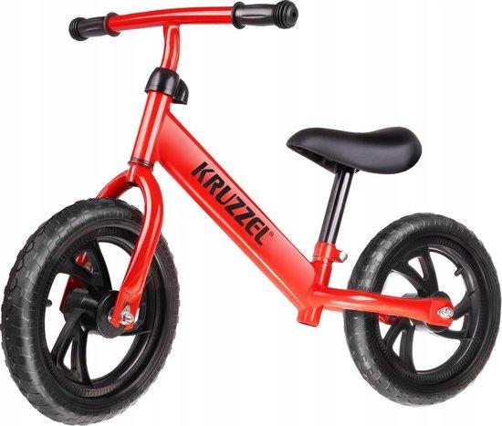 Kinderfiets - Loopfiets - Peuterfiets - Loopfiets voor kinderen- Kinderzitje - Tweewieler loopfiets - Balans Fiets voor Kinderen - Loopfiets op Twee wielen - eerste loopfiets voor kinderen - Cadeau voor Kinderen - Stoere Fiets - Rood - Vanaf 3 Jaar