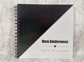 Invulboek 'Onze kinderwens' - ZWART