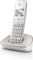 Philips XL4901S - Draadloze Senioren Telefoon met 1 Handset - Grote Toetsen, Volumeboost en Gehoorapparaat Compatibiliteit - Wit
