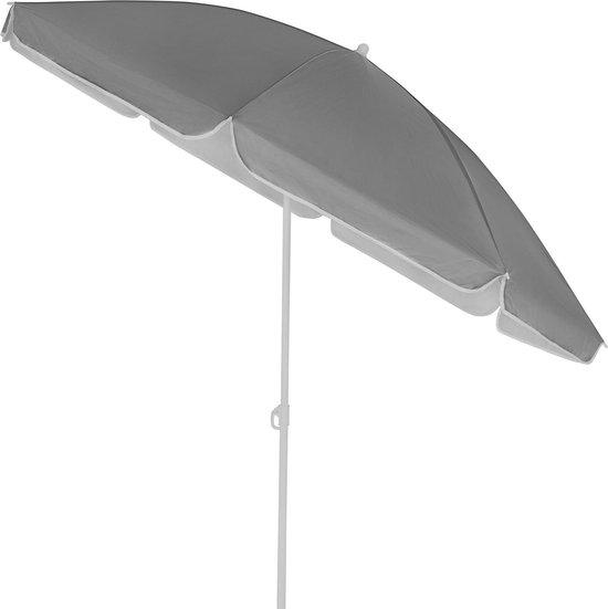 Kingsleeve Parasol 200cm UV 50+ Kantelbaar Waterafstotend Strand Antraciet