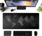 Muismat | Bureau Onderlegger | Mousepad | Muismat XXL | Muismat Gaming | 90 x 40 CM | Wereldkaart