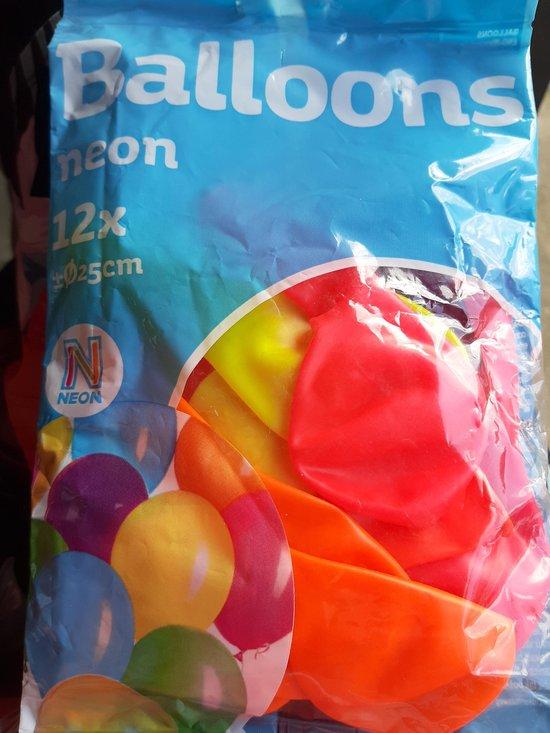 Ballonnen- neon kleuren- 12 st. / 25 cm