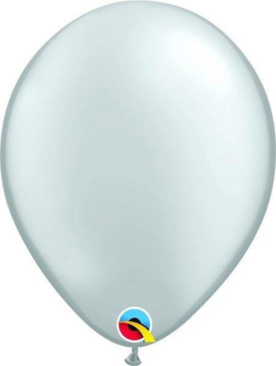 Ballonnen Pearl Zilver 45 cm 5 stuks