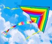 Vlieger (M) Regenboog - 100x50x100cm