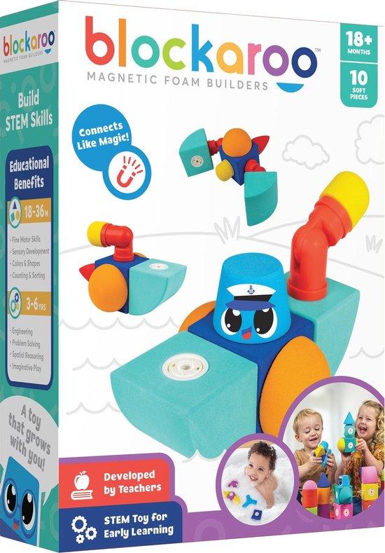 Blockaroo boot box-10 stuks-magnetisch speelgoed-peuter en baby speelgoed-speelgoed 1 jaar/2 jaar/3 jaar- speelgoed jongens en meisjes- badspeelgoed