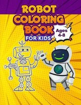 Robot Coloring Book for Kids, Ages 4-8