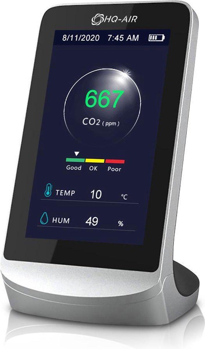 HQ-AIR CO2 Meter - Luchtkwaliteitsmeter binnen met temperatuur en luchtvochtigheid - Luchtkwaliteits