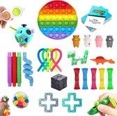 ZTWK© - Fidget toys pakket XL - 28 stuks - Pop it regenboog - Mochi - Monkey Noodles - Unpop it!