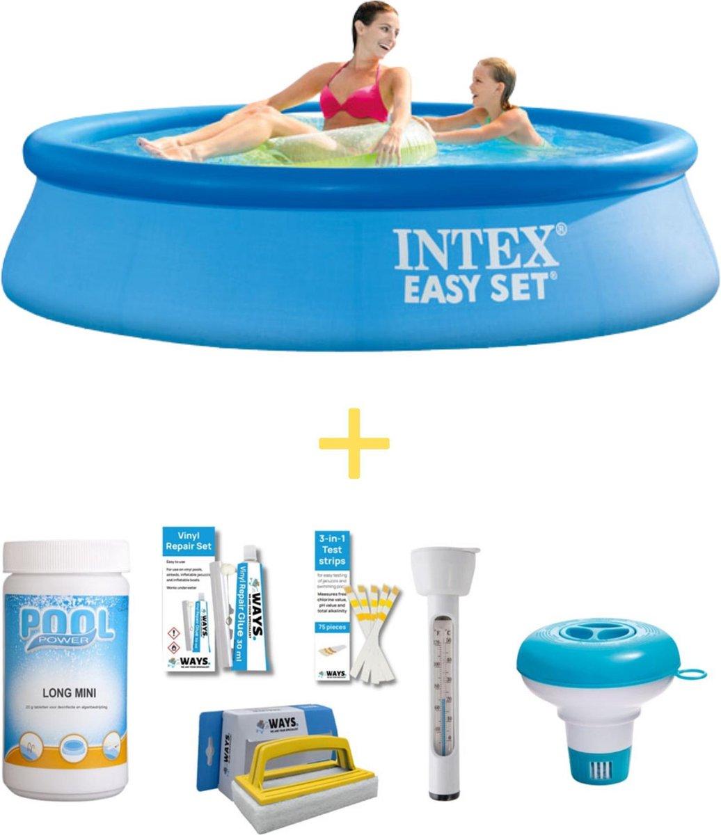 Intex Zwembad - Easy Set - 244 x 61 cm - Inclusief WAYS Onderhoudspakket