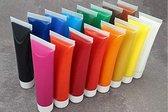 Set van 18 tubes hoogwaardige acrylverf - schilderkleuren voor kunstenaars, gevorderden, beginners - hoge kleurglans