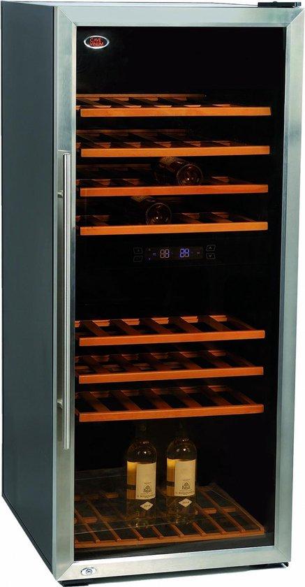 Koelkast: Cavevinum CV-160 - Koopje - Nieuw - 2 zones - 160 flessen - RVS, van het merk Cavevinum