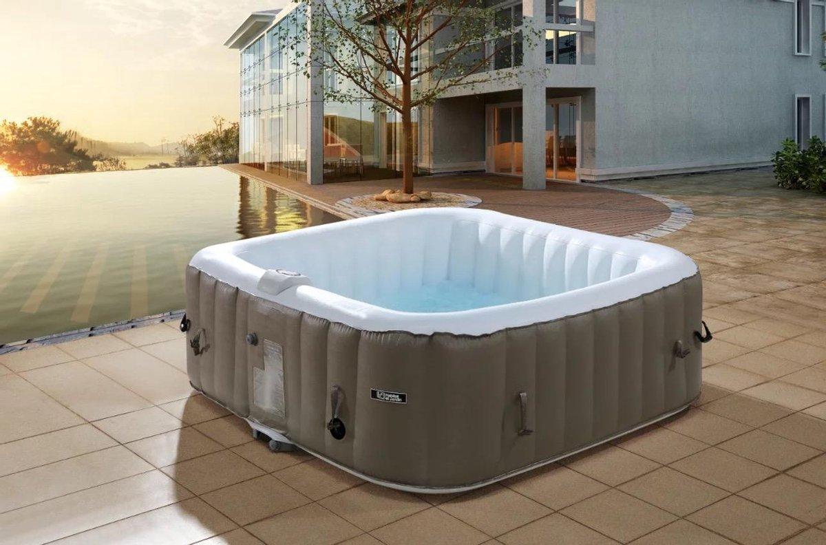 Opblaasbare jacuzzi - ( 6 Personen ) - ( + 2 GRATIS filters & Afdekzeil ) - jacuzzi - jacuzzi opblaasbaar - bubbelbad - hottub - Zomer - Zon - Spa - Wellness -
