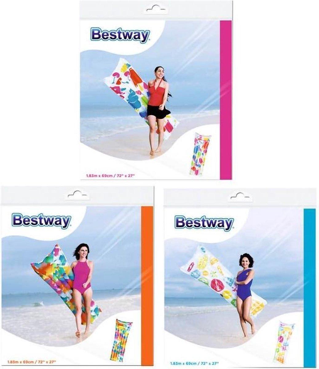 Bestway Luchtbed Ijsjes Multicolor 183 X 69 Cm