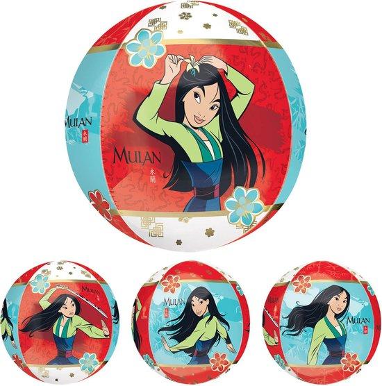 Amscan Folieballon Orbz Mulan Junior 20 Cm Rood