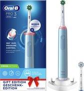 Oral-B Pro 3 3770 - Elektrische Tandenborstel - Blauw - 1 Handvat en 2 opzetborstels