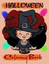 Halloween Coloring Book: Preschool Halloween Book, Ages 2-4, 4-8, With