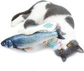 Elektronisch bewegende vis met kattenkruid – Catnip - Kattenkruid - Automatisch kattenspeeltje - Kattenspeeltje – Speelgoed voor katten