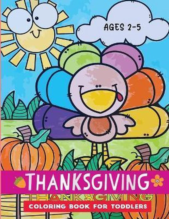 thanksgiving coloring book for toddlers ages 2-5