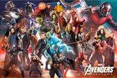 Avengers  Endgame poster XXL - Marvel - superhelden - Thor - Hulk - Iron Man -  groot 100x140cm