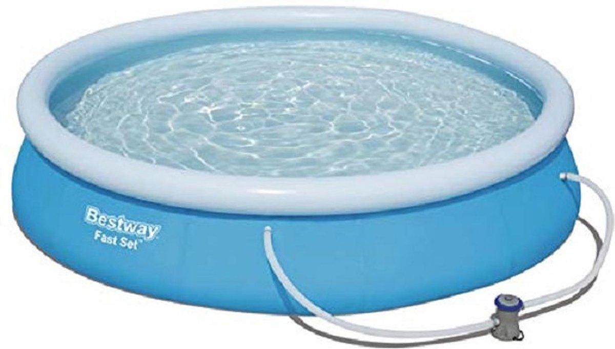 Bestway Fast Set zwembad 457x84cm + pomp 12 Volt