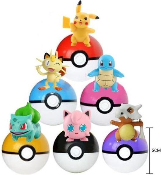 Pokemon Tas met pokemon ballen 6 stuks