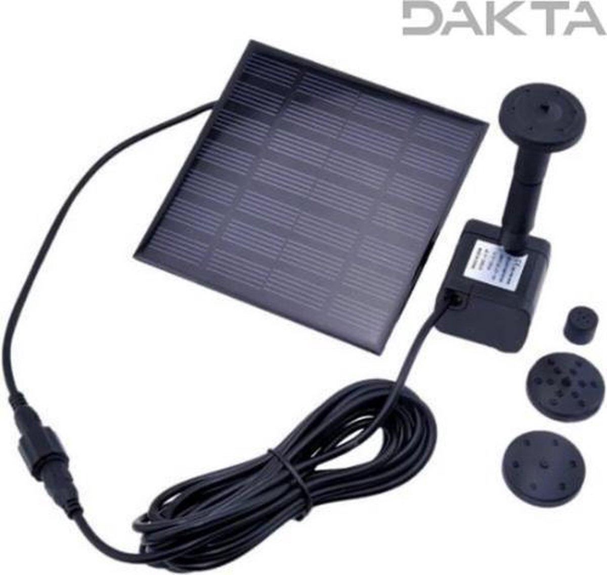Dakta® Fontein   Zonne-energie   Tuin   Waterpomp   Vijver   Vogelbad   Drijvend   Solar   Decoratie   Tuindecoratie   Duurzaam