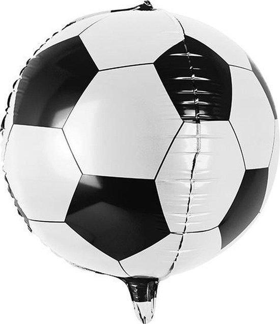 Folieballon voetbal oranje EK / WK - folie ballon helium Nederland - doorsnee 60 cm - Oranje versiering