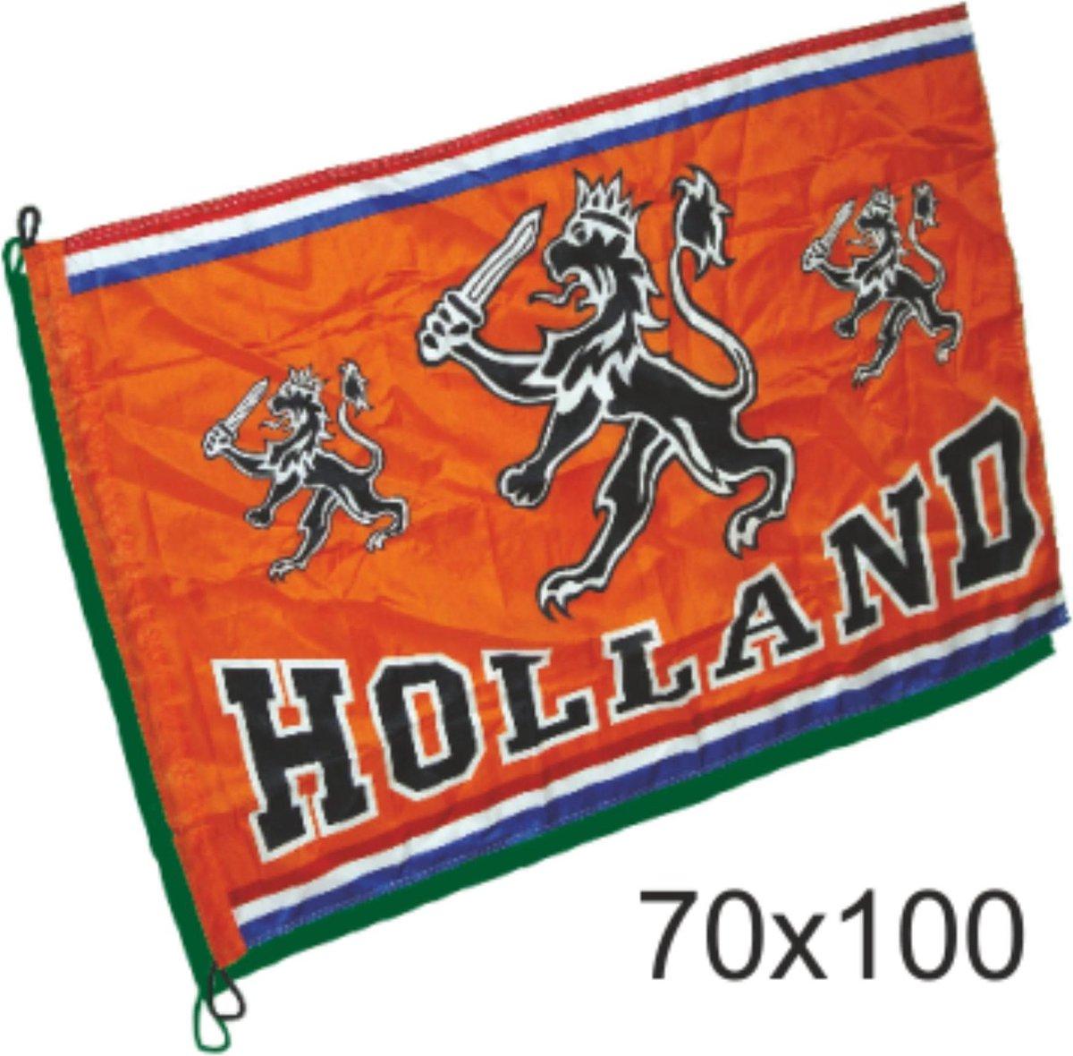 Kleine vlag oranje Holland met leeuw   EK Voetbal 2020 2021   Nederlands elftal vlag   Nederland sup
