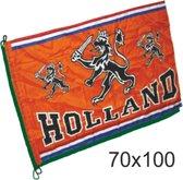 Kleine vlag oranje Holland met leeuw   EK Voetbal 2020 2021   Nederlands elftal vlag   Nederland supporter   Holland souvenir   70 x 100 cm