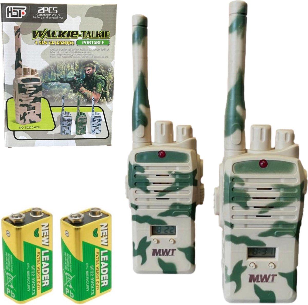 Walkie Talkie voor Kinderen Speelgoed - Set van 2 - inclusief 2x 9V batterij - 50M bereik