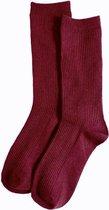 Emilie Scarves - sokken - katoen - one size - Bordeaux rood