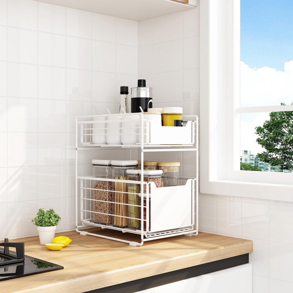 BROËL Organizer – Ladekast - Opbergrek - Aanrecht Organiser – Keuken Organizers - Ladeblok - Kast Or