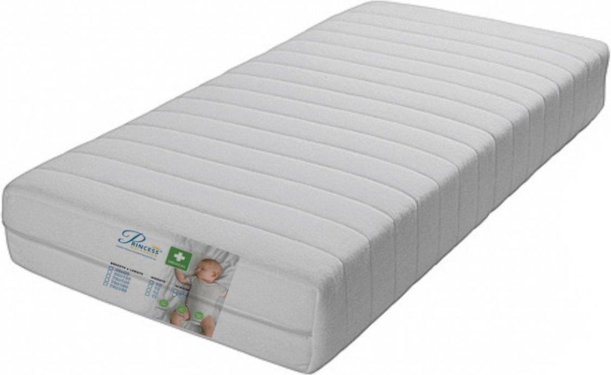 Comfort Peutermatras 70x140 x10cm -SG25 Anti-allergische wasbare hoes met rits.
