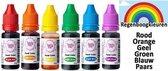 Tasty Me - Garnering - Vloeibare kleurstof op Waterbasis - Multicolor - 6 Stuks