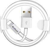 DrPhone® - Gecertificeerde 3 Meter Lightning naar USB kabel - 8-pin Oplaadkabel - TPE Materiaal - Veilig laden - Geschikt voor Apple iPhone / iPad en iPod - Wit
