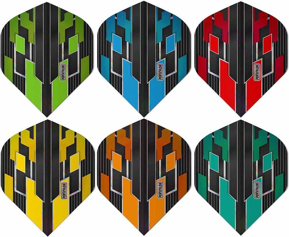 ABC Darts - Pentathlon Dart Flights Shimmers - Kleurenmix - 5 sets