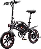 DYU - E-Bike D3 - Elektrische fiets - Smart bike - Opvouwbaar - 250W / 42V / 10Ah Batterij Long Range - 25 KM/H - Zwart