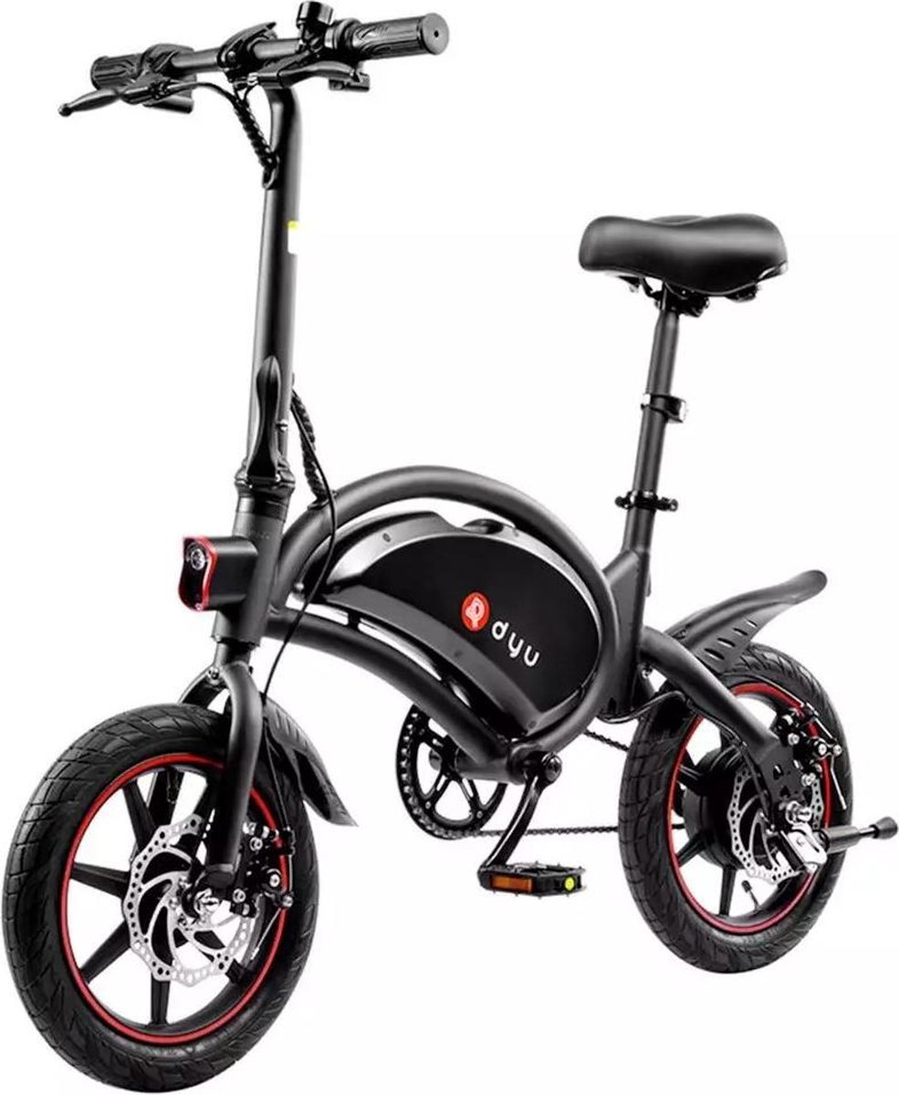 DYU - E-Bike D3 - Elektrische fiets - Smart bike - Opvouwbaar - 350W / 42V / 10Ah - 35 KM/H - Zwart