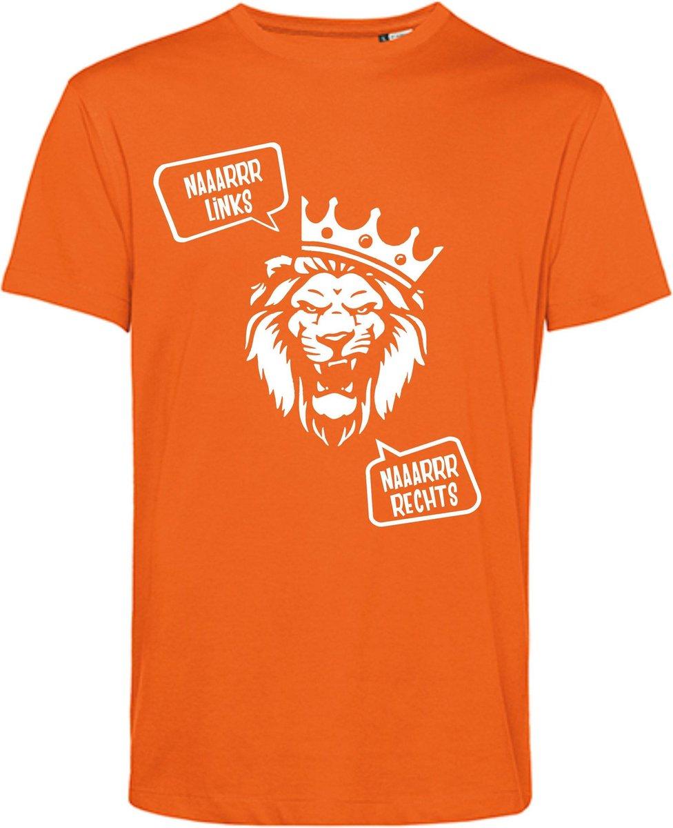 Oranje Juich Shirt - Van links naaarrr rechts - Oranje EK T-shirt - Oranje T-shirt Maat XXL