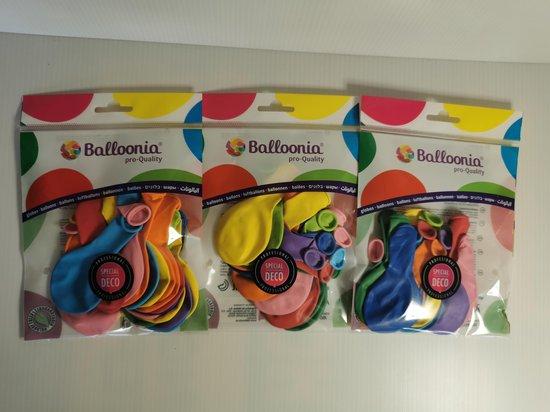 Gekleurde Ballonnen Ø22cm : 60stuks (3x20stuks) 100% bio-afbreekbaar vervaardigd uit natuurlijke rubberlatex