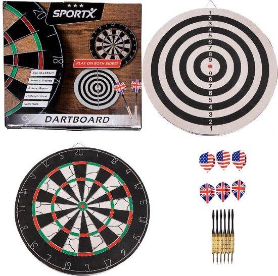 Afbeelding van het spel SportX Dartbord Flocked met 6 Darts