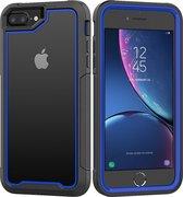 Apple iPhone 7 / 8 Plus Backcover - Zwart / Blauw - Shockproof Armor - Hybrid - Drop Tested