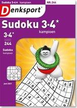 Denksport Puzzelboek, Sudoku 3-4* kampioen, editie 244