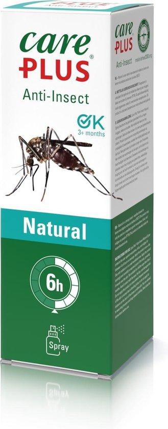 2X Care Plus Natural spray 60 ml - Muggenspray zonder deet geschikt voor kinderen vanaf 3 maanden - op basis van Citriodiol®