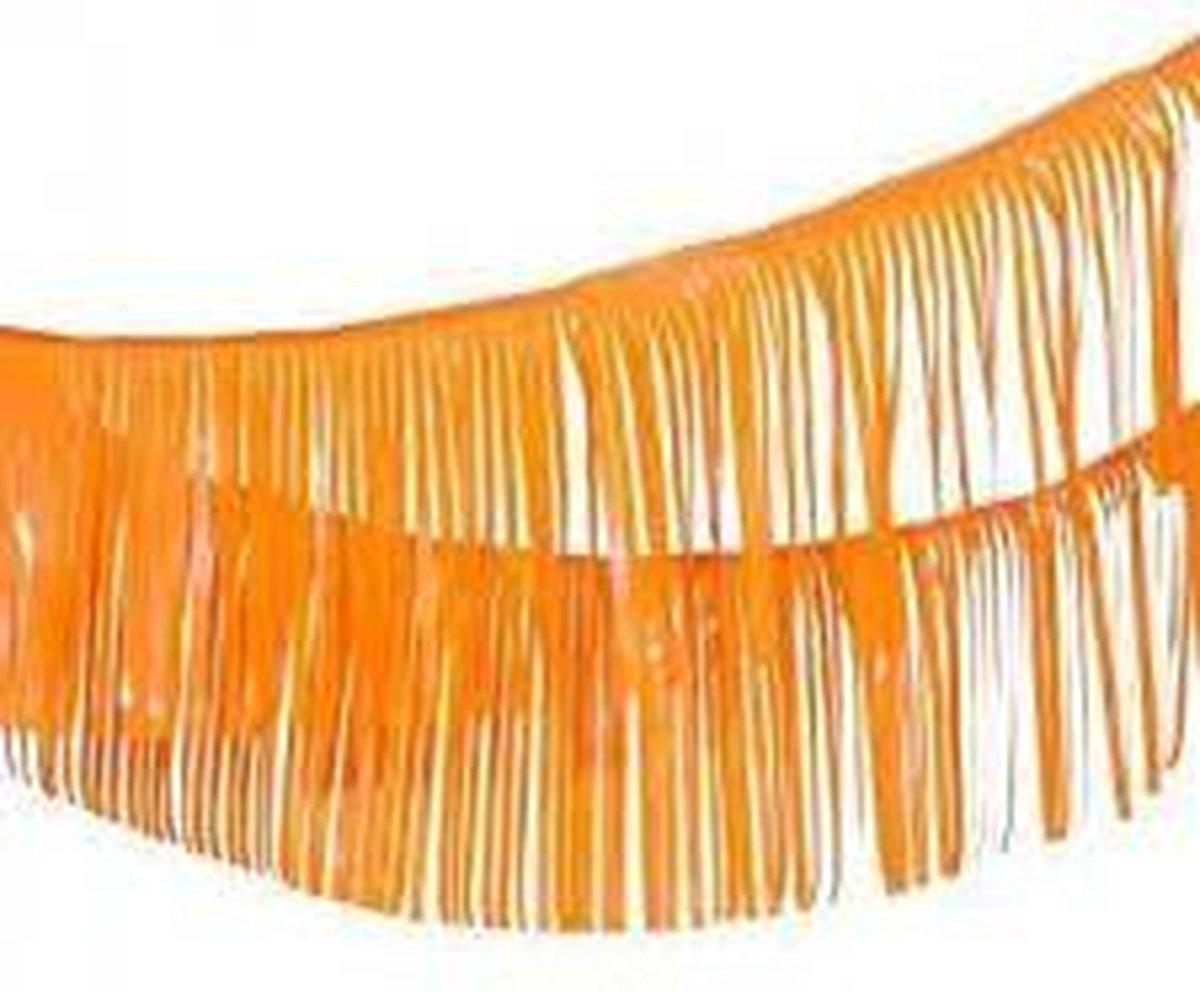 XXL Oranje Franje Slinger - Slingers - Vlaggenlijn - EK accessoires - Oranje versiering - EK 2021 -